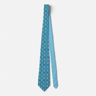 Men's silk tie, blue and green Feather Nation Neck Tie