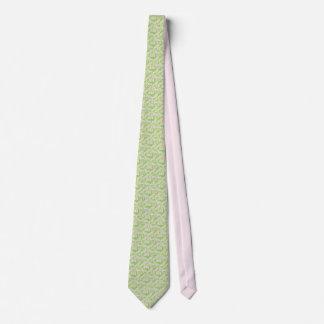Men's silk tie, Mexicana, Green, peach, pink Neck Tie