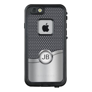 Professional Business Men's Silver and Gray Metallic with Monogram LifeProof FRĒ iPhone 6/6s Case