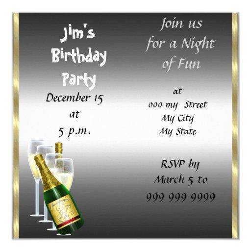 mens birthday invitations