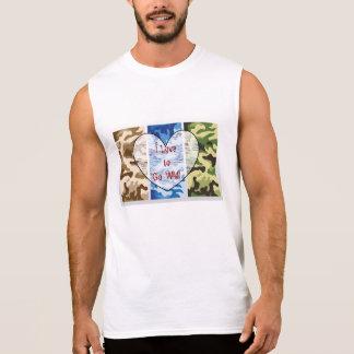 Men's Sleeveless Camo T-Shirt I Love to Go Wild!