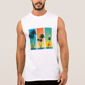 Men's Sleeveless T-Shirt - Tropical Graphic