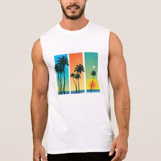 Men's Sleeveless T-Shirt - Tropical Graphic