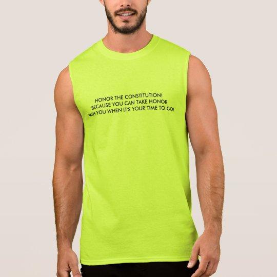 Men's Sleeveless T-Shirt w/ Honor the Constitution