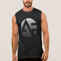 Men's Sleeveless T - Silver AF with alanfraze.com Sleeveless Shirt