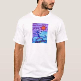 Men's Sleeveless tee shirt- Catching A Wave