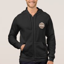 Men's sleeveless zip hoodie with beige mosaic