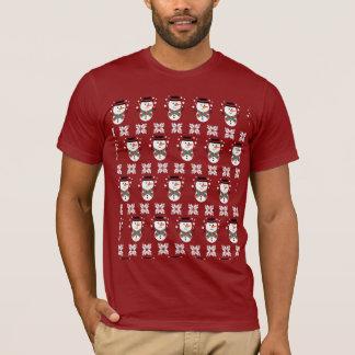 Mens Snowman Design Christmas Xmas Tshirt