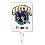 Men's Soccer Logo Cake Picks