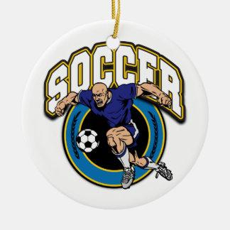 Men's Soccer Logo Ceramic Ornament