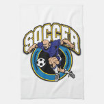 Men's Soccer Logo Hand Towels