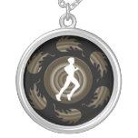 Mens Spiral Runner Necklace