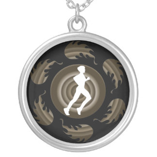 Mens Spiral Runner Necklace