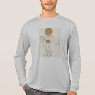 Mens sport-tek long sleeve t-shirt w/basketball