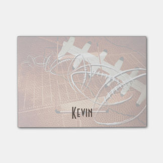 mens sports football his name custom post-it® notes