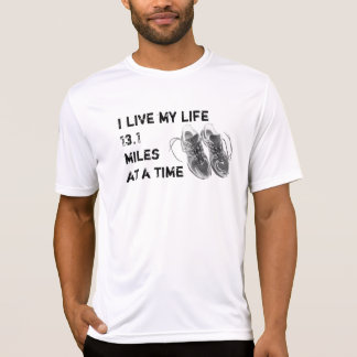 Men's SS Wicking - Life 13.1 miles at a time Tee Shirts