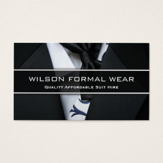 Mens Suit Formal Wear, Photo Business Card