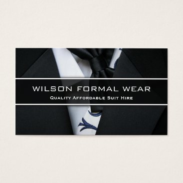 Professional Business Mens Suit Formal Wear, Photo Business Card