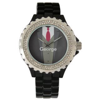 Men's Suit Monogram Watch