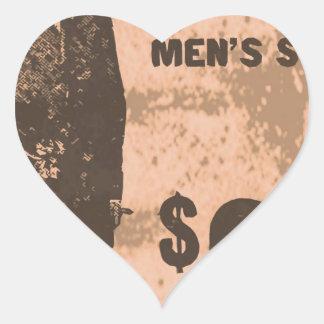 mens suits heart sticker