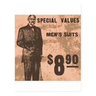 mens suits post card