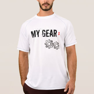 "Men's Sweat wick sleeveless T-shirt, ""MY GEARS"" T-Shirt"