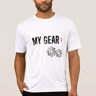 "Men's sweat wick T-shirt, ""MY GEARS"" T-Shirt"