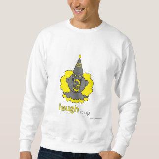 mens sweatshirt - laugh it up