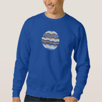 Men's sweatshirt with blue mosaic