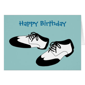 Mens Swing Dance Shoes Happy Birthday Spats Card