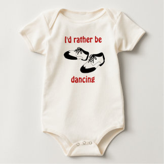 Mens Swing Dance Shoes Id Rather Be Dancing Spats Baby Bodysuit