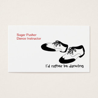Mens Swing Dance Shoes Id Rather Be Dancing Spats Business Card