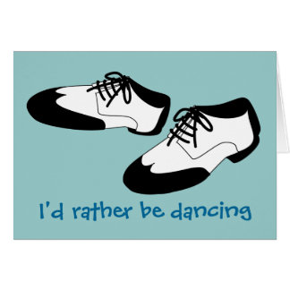 Mens Swing Dance Shoes Id Rather Be Dancing Spats Card