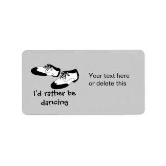 Mens Swing Dance Shoes Id Rather Be Dancing Spats Label