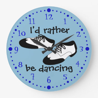 Mens Swing Dance Shoes Id Rather Be Dancing Spats Large Clock