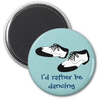 Mens Swing Dance Shoes Id Rather Be Dancing Spats Magnet