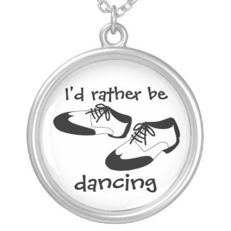 Mens Swing Dance Shoes Id Rather Be Dancing Spats Personalized Necklace