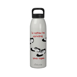 Mens Swing Dance Shoes Id Rather Be Dancing Spats Water Bottles
