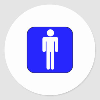 Mens Symbol Classic Round Sticker