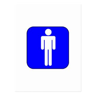 Mens Symbol Postcard