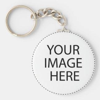 Men's T-Shirt Basic Round Button Keychain