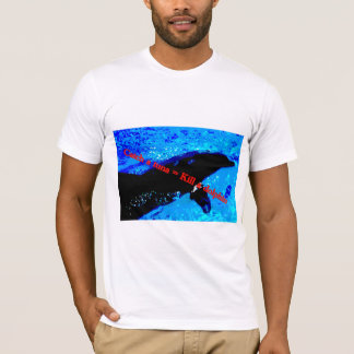 "Men's T-shirt ""Catch a tuna = Kill a dolphin"
