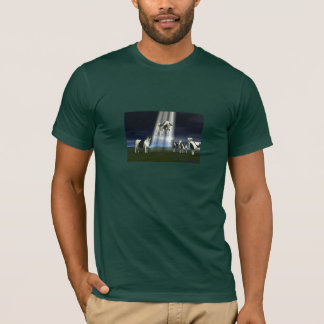Men's T-Shirt featuring Cow Abduction Illustration