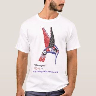 Mens T-Shirt Native Artist Hummingbird Design