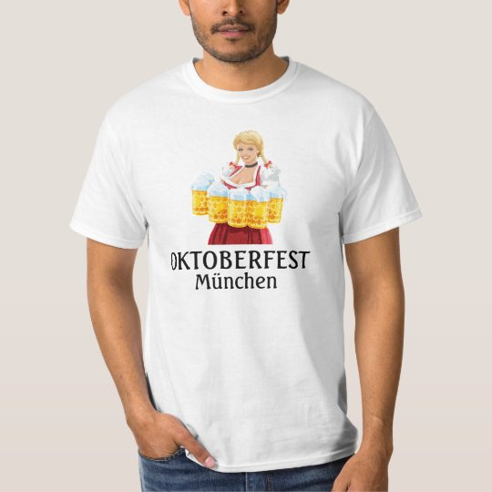 Men's T-Shirt Oktoberfest Waitress Beer