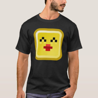 Mens T-Shirt Retro 80's Cube smiley.