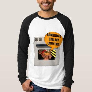 Mens T-Shirt - Thanksgiving Turkey Lawyer