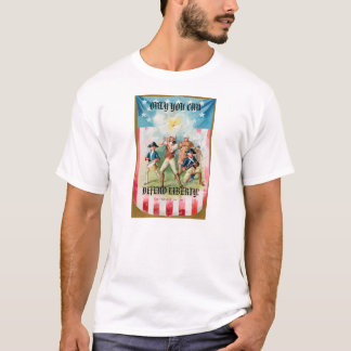 Mens T-Shirt w/ Only you can defend liberty!