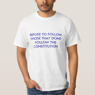 Men's T-Shirt w/ Refuse to follow those that dont