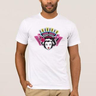 Men's T shirt white tight fitting